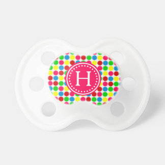 Bright Summer Polka Dots Monogram Dummy
