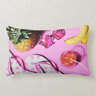 Bright summer still life lumbar pillow