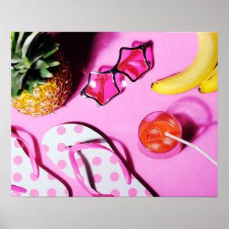 Bright summer still life poster