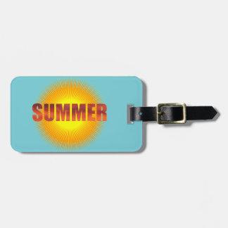 Bright Summer Sun Luggage Tag