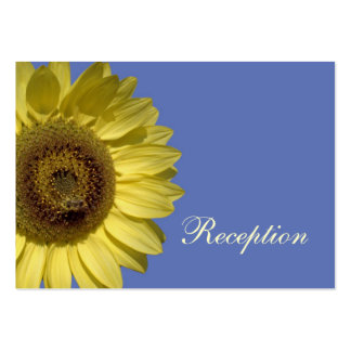 bright summer yellow sunflower, wedding reception pack of chubby business cards