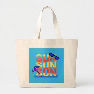 BRIGHT SUN by Slipperywindow Large Tote Bag