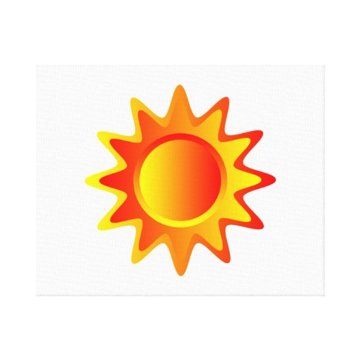 Bright Sun Stretched Canvas Prints