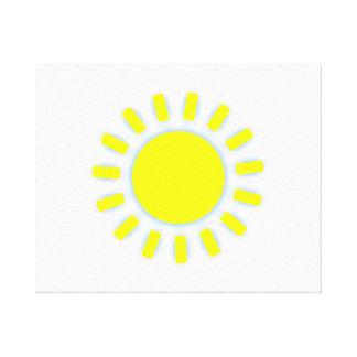 Bright Sun Stretched Canvas Print
