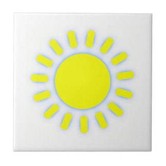 Bright Sun Small Square Tile