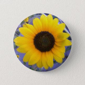 Bright Sunflower 6 Cm Round Badge