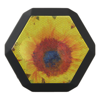 Bright Sunflower Art Black Bluetooth Speaker