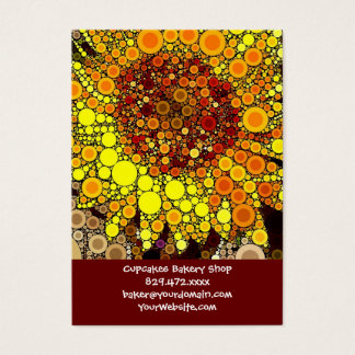 Bright Sunflower Circle Mosaic Digital Art Print Business Card