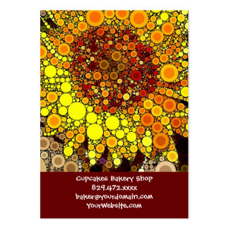 Bright Sunflower Circle Mosaic Digital Art Print Pack Of Chubby Business Cards