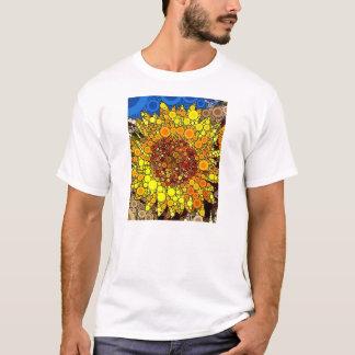 Bright Sunflower Circle Mosaic Digital Art Print T-Shirt