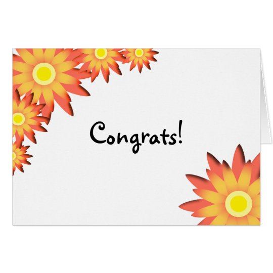 Bright Sunflower Congratulations Card
