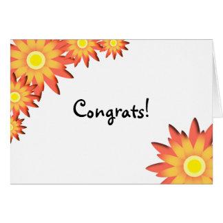 Bright Sunflower Congratulations Greeting Card