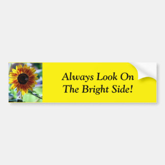 Bright Sunflower - Floral Photography Bumper Sticker
