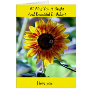 Bright Sunflower - Floral Photography Card