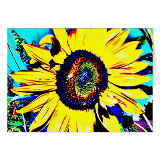 Bright Sunflower Greeting Card