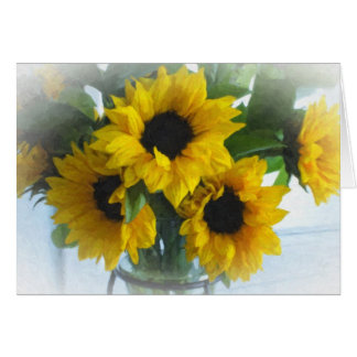 Bright Sunflowers-Blank Card