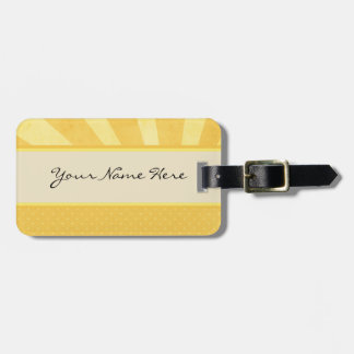 Bright Sunlight and Polka Dots Luggage Tag