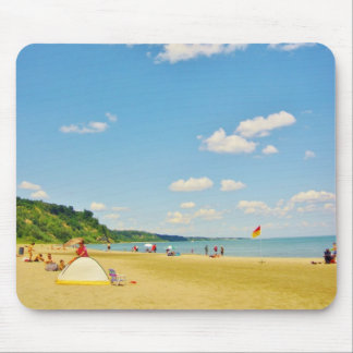 Bright Sunny Beach Day Mouse Pad