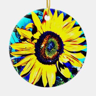 Bright Sunny Sunflower Ceramic Ornament