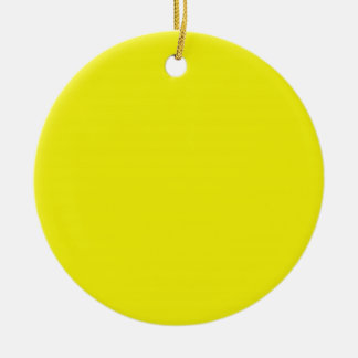 Bright Sunny Yellow Background on an Ornament