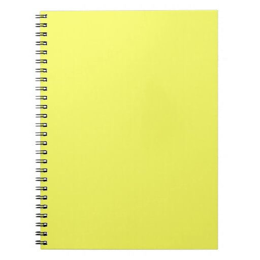 Bright Sunny Yellow Color Only Custom Products Note Book