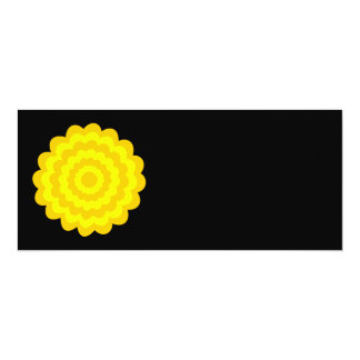 Bright sunny yellow flower. On Black. Personalized Invitations