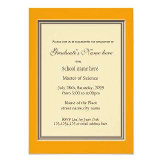 Bright sunny yellow high achievement  graduation card