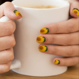 Bright Sunny Yellow Sunflower Fingernail Transfers