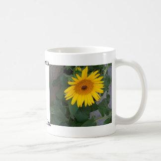Bright Sunny Yellow Sunflowers Summer CricketDiane Basic White Mug