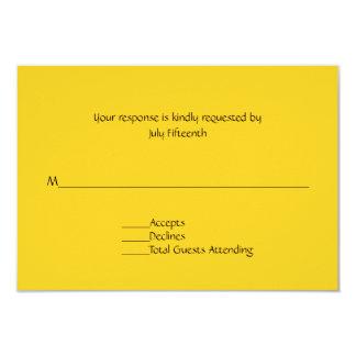 Bright Sunny Yellow Wedding RSVP Card