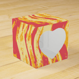 Bright sunrays yellow orange abstract gift box