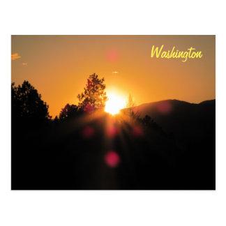 Bright Sunset over Washington Postcard
