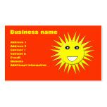 Bright Sunshine Customizable Business Card