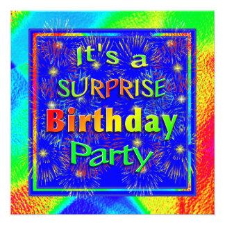 Bright Surprise Birthday Party Invitation