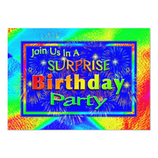 Bright Surprise Birthday Party Invitations