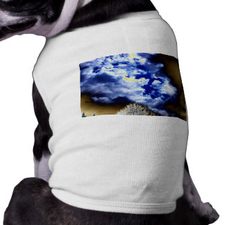 Bright Surreal Storm Front by KLM Dog Tshirt