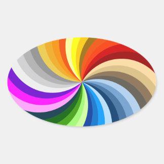 Bright swirl oval sticker
