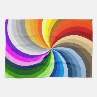 Bright swirl tea towel