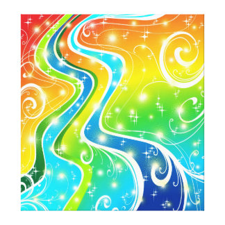 Bright Swirls and Colors Gallery Wrap Canvas
