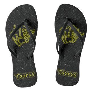 Bright Taurus Flip Flops