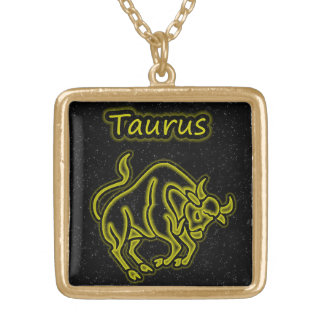 Bright Taurus Gold Plated Necklace