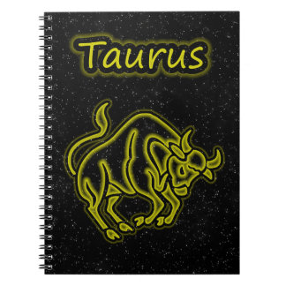 Bright Taurus Spiral Notebook