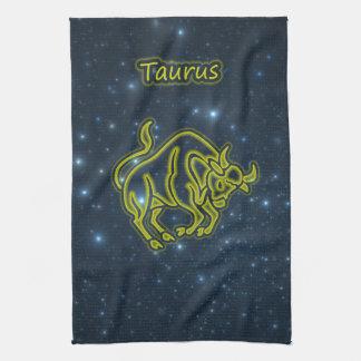 Bright Taurus Tea Towel