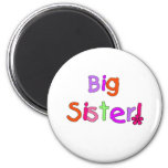 Bright Text Big Sister Magnets