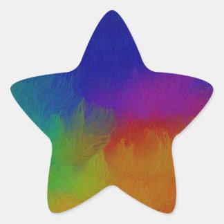 Bright Texture Star Sticker