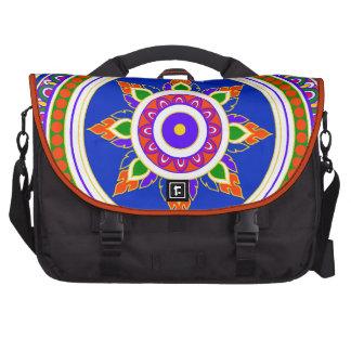 bright Thai design intricate pattern mandala Commuter Bag
