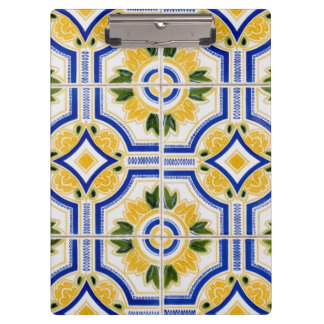 Bright tile pattern, Portugal Clipboards
