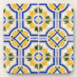 Bright tile pattern, Portugal Coaster