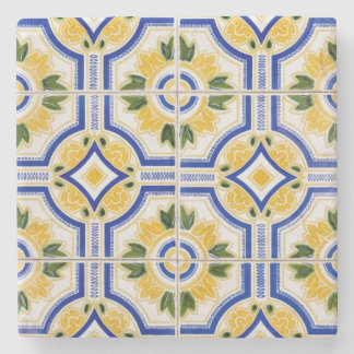 Bright tile pattern, Portugal Stone Coaster