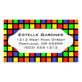 Bright tiled squares custom business card